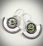 Sterling silver and Peridot earrings