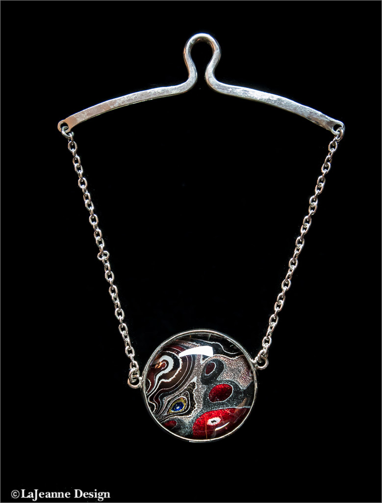 Men's Tie chain sterling silver Fordite