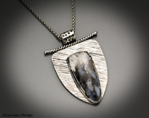 sterling silver necklace tuxedo agate