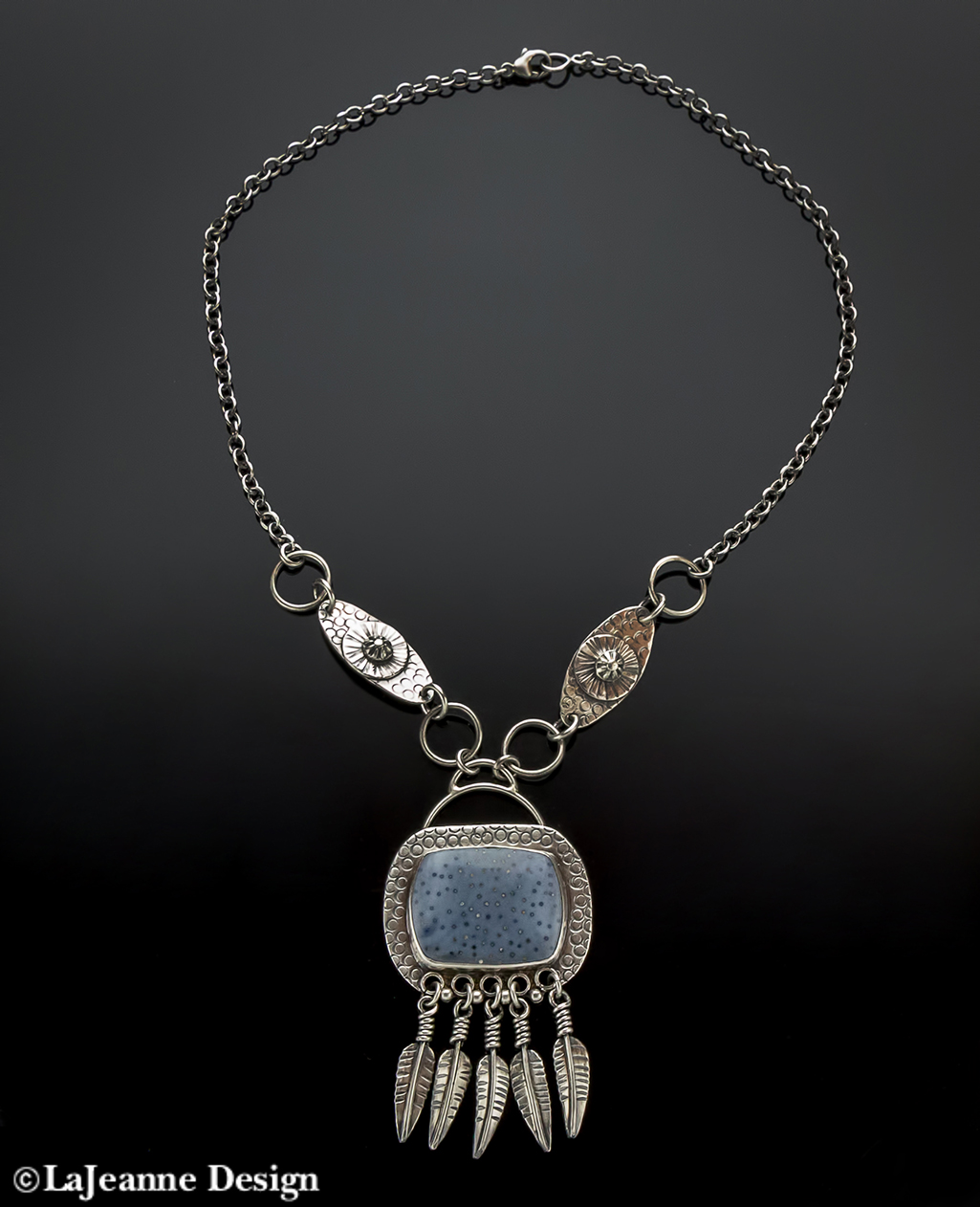Blue Coral Sterling Silver necklace