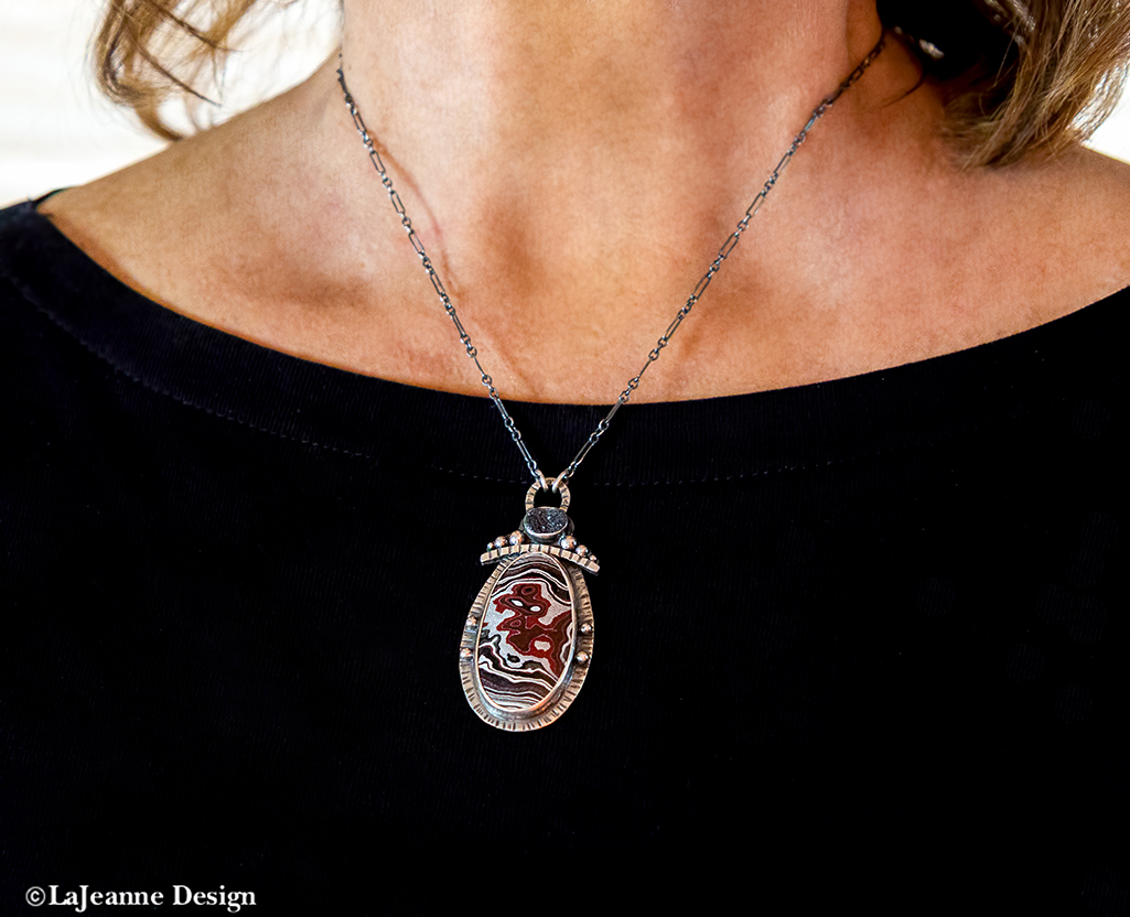 Fordite Sterling Silver necklace