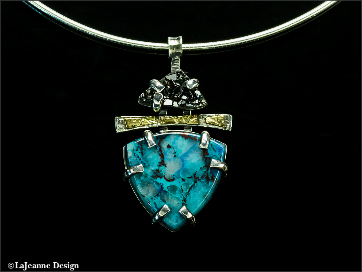 Chrysocolla & Sterling Silver Necklace