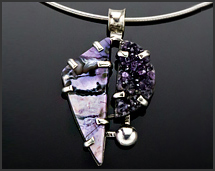 Tiffany Stone & Druzy Sterling Silver Necklace