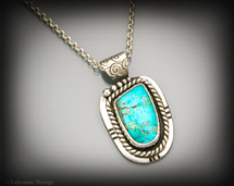 Arizona Turquoise and sterling silver necklace