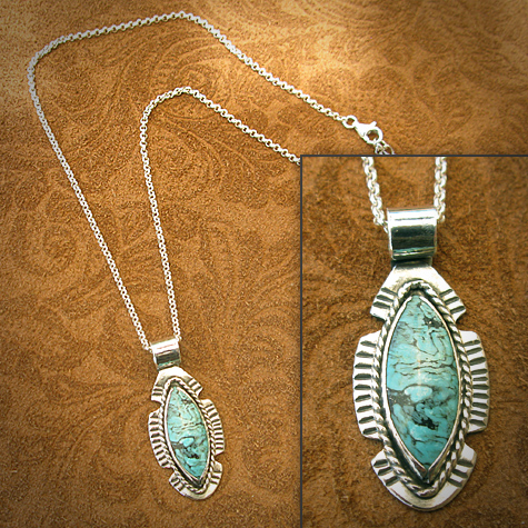 Arizona Turquoise sterling silver necklace