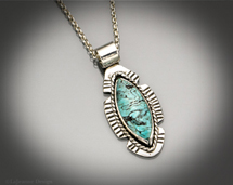 Nevada Turquoise and sterling silver necklace