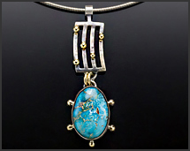 Ithaca Peak Turquoise & 18K Gold Sterling Silver Necklace