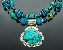turquoise sterling silver western necklace