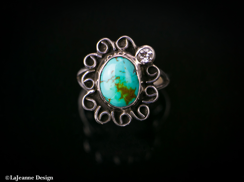turquoise sterling silver woman's ring